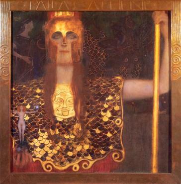 Pallas Atenea, de Klimt. Fuente (5)