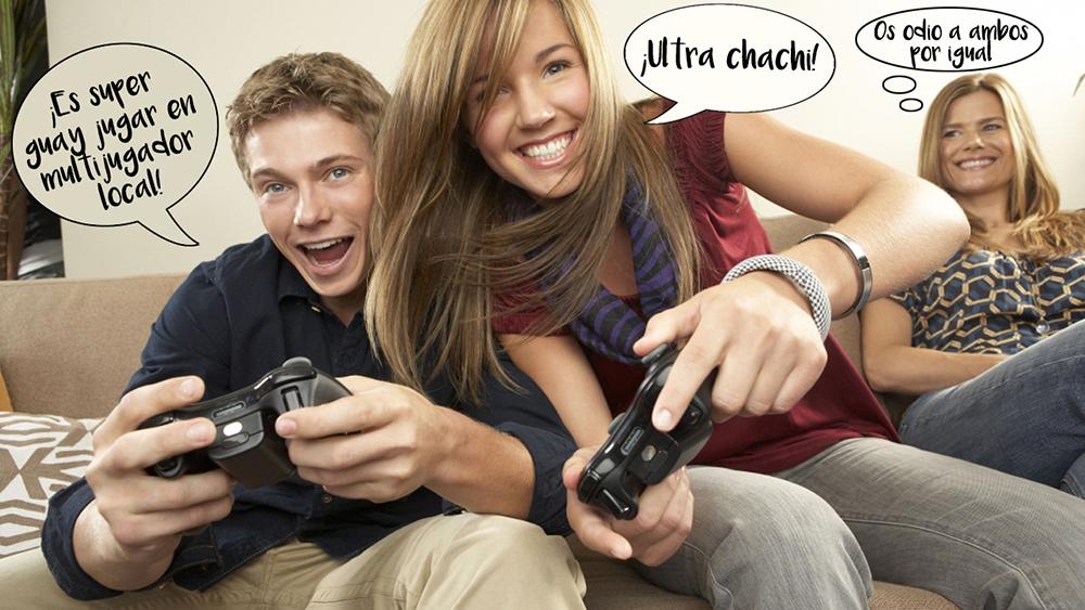 Personas jugando en multijugador local